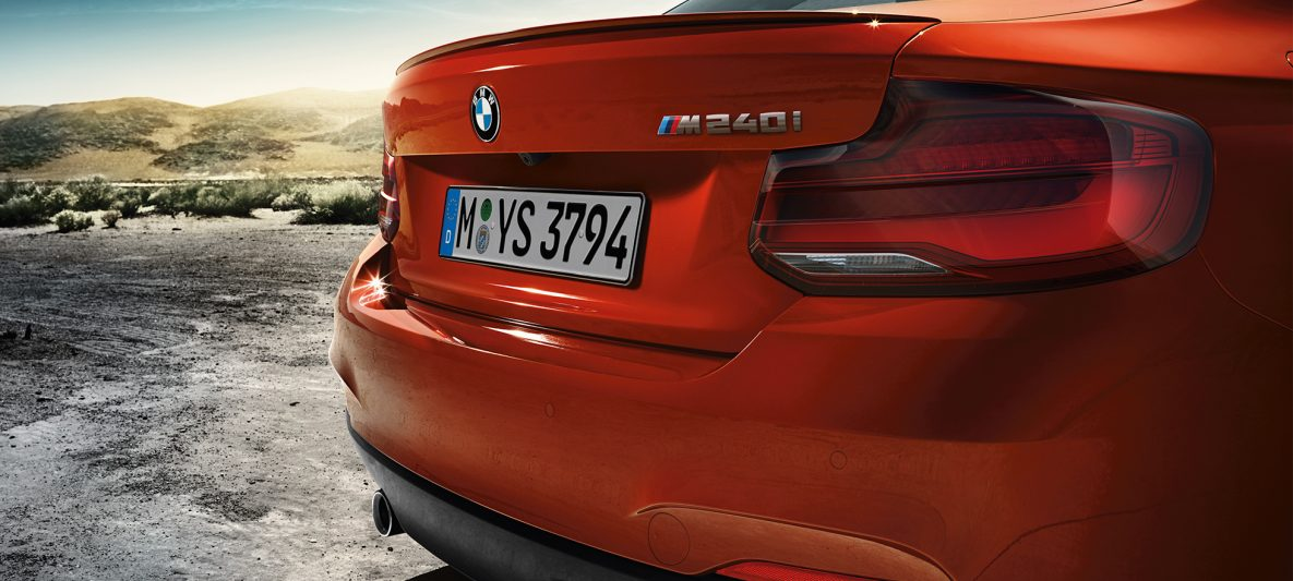 BMW 2er Coupé, Modellname am Heck