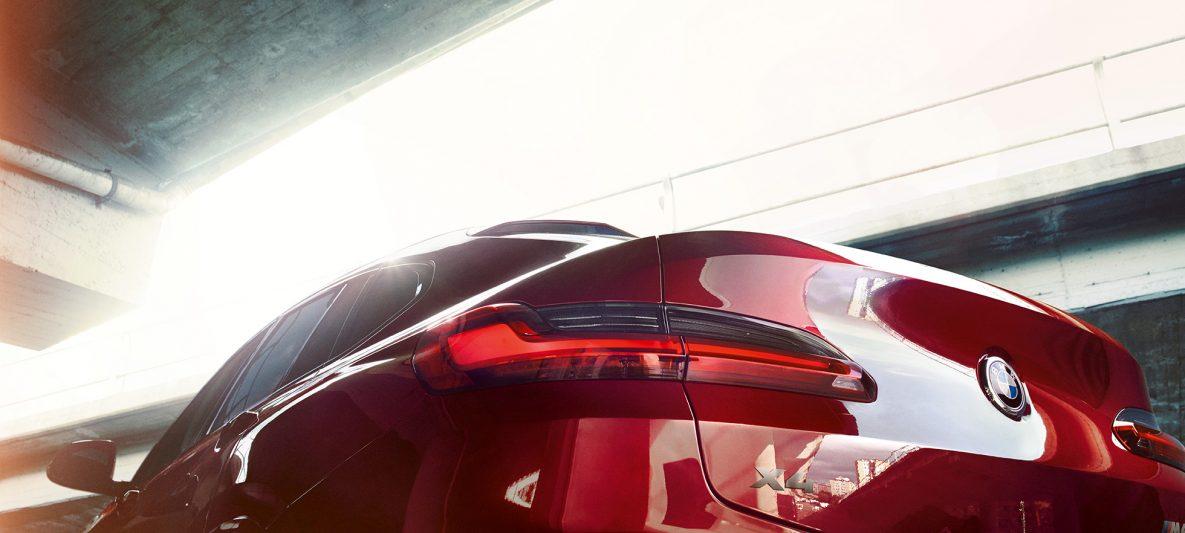 Voll-LED-Heckleuchten BMW X4 M40i G02 2018 Flamencorot Brillanteffekt Rot